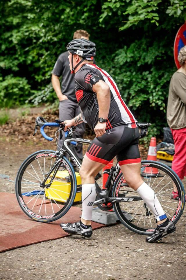 på vej ud på cykelruten