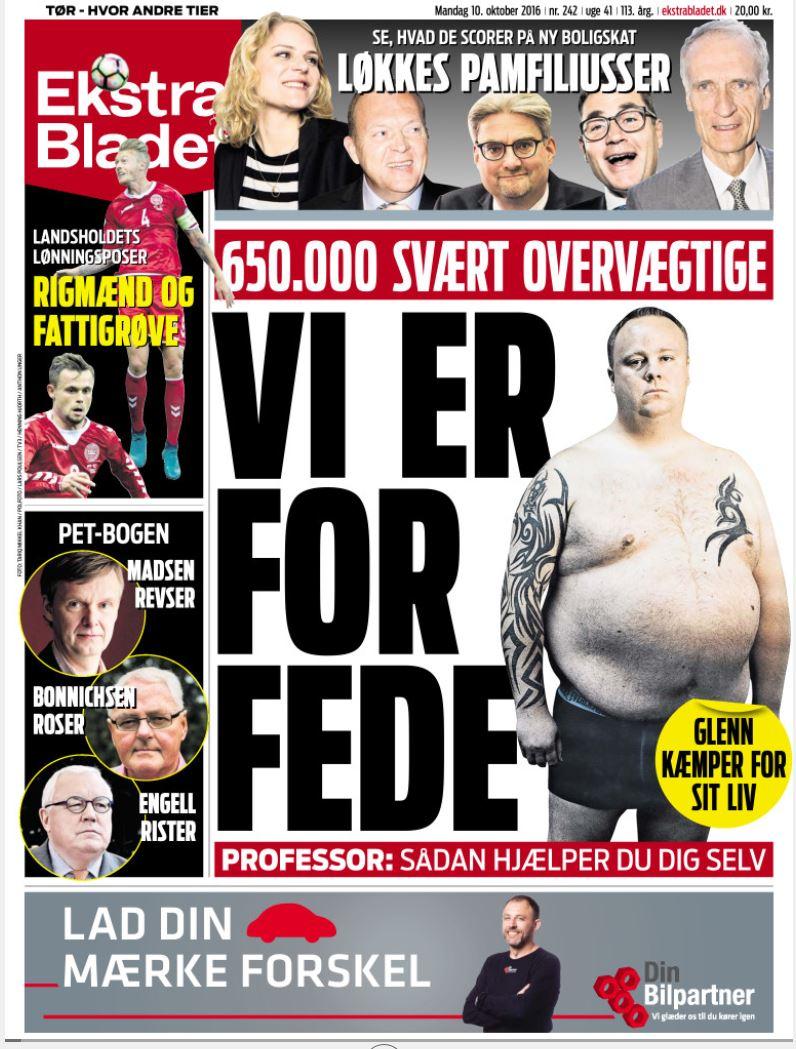 På forsiden af Ekstra Bladet